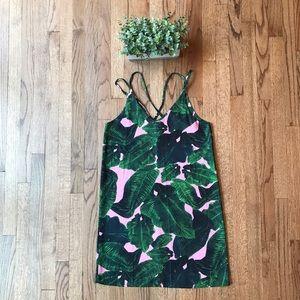 Tropical print dress 🌸🌴